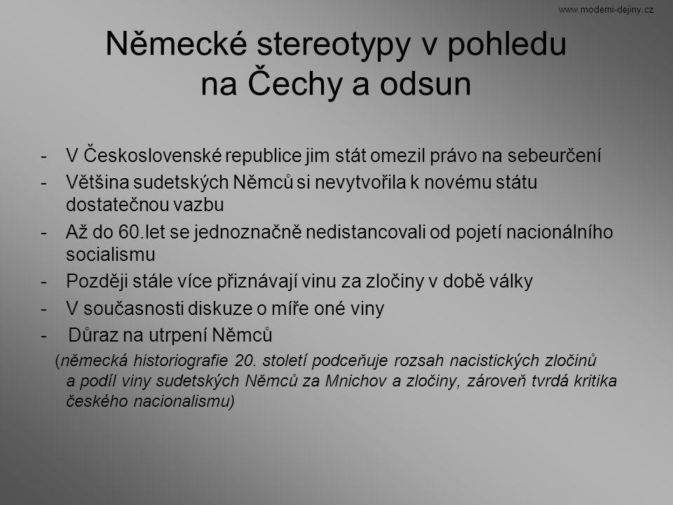 Německé stereotypy v pohledu na Čechy a odsun