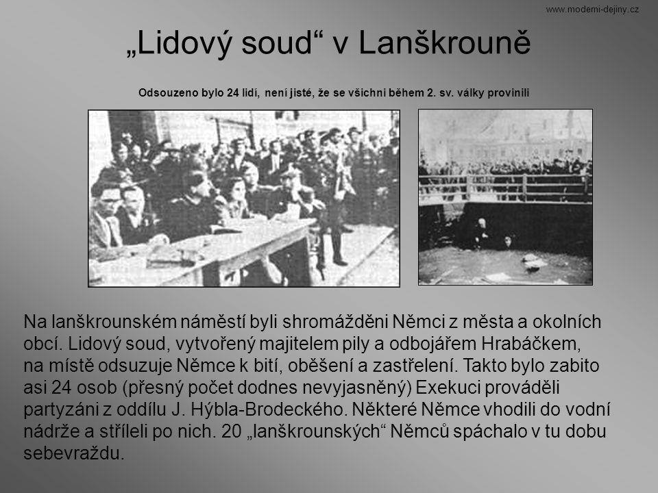 """""""Lidový soud v Lanškrouně"""