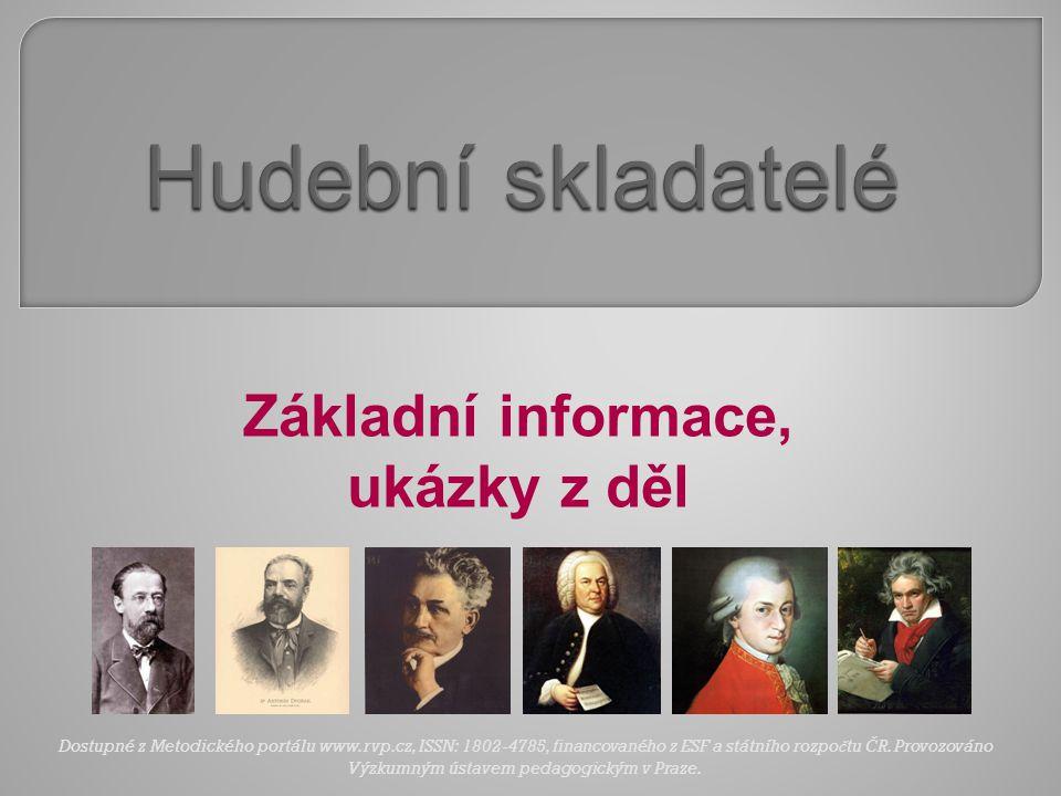 Základní informace, ukázky z děl
