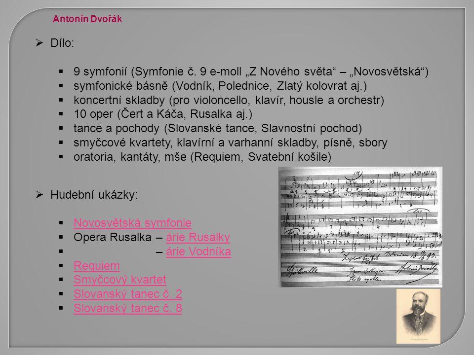 """9 symfonií (Symfonie č. 9 e-moll """"Z Nového světa – """"Novosvětská )"""