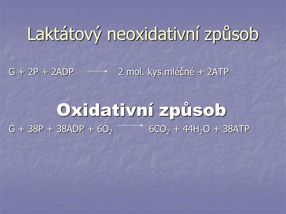 Laktátový neoxidativní způsob