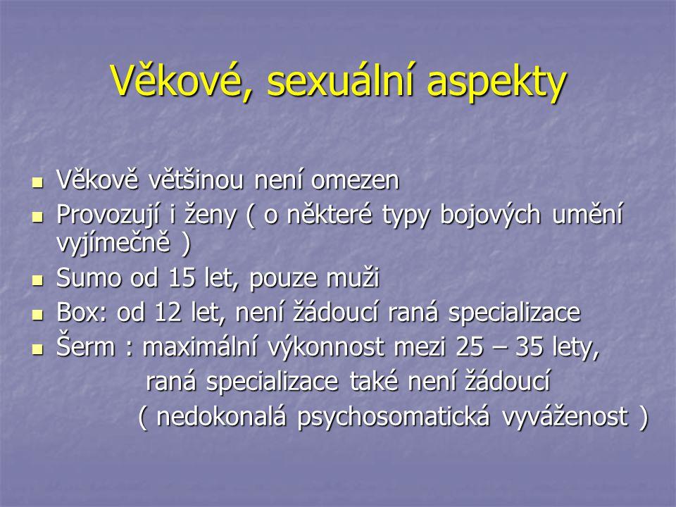 Věkové, sexuální aspekty