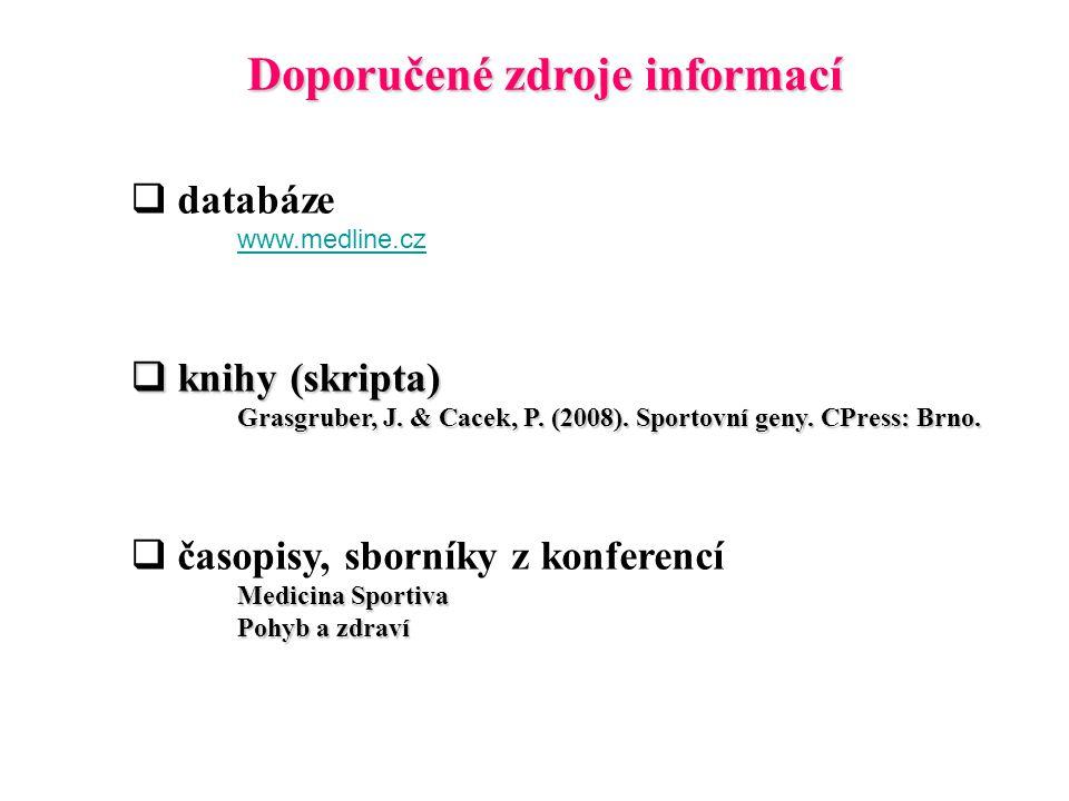 Doporučené zdroje informací