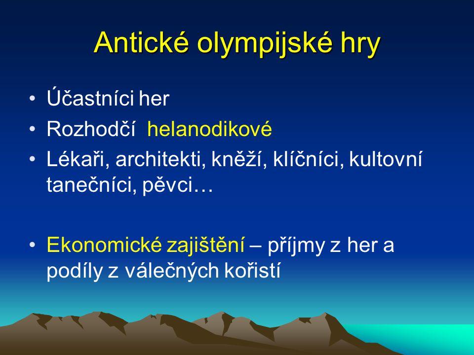 Antické olympijské hry