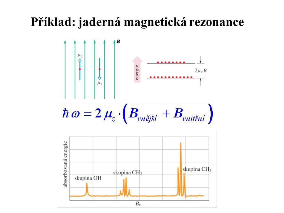 Příklad: jaderná magnetická rezonance