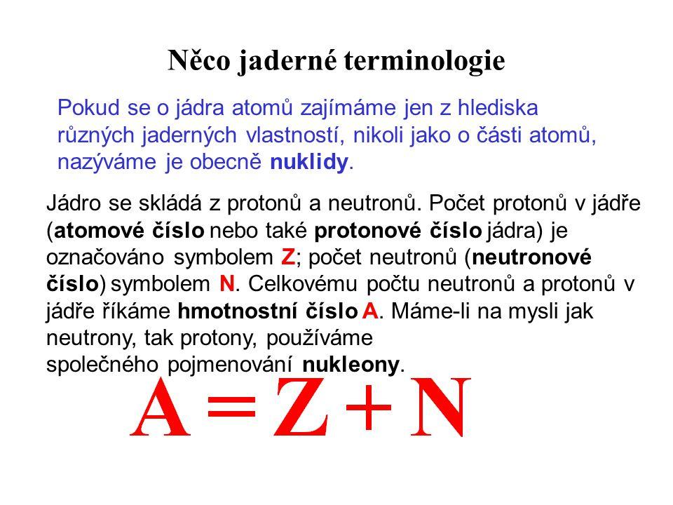 Něco jaderné terminologie