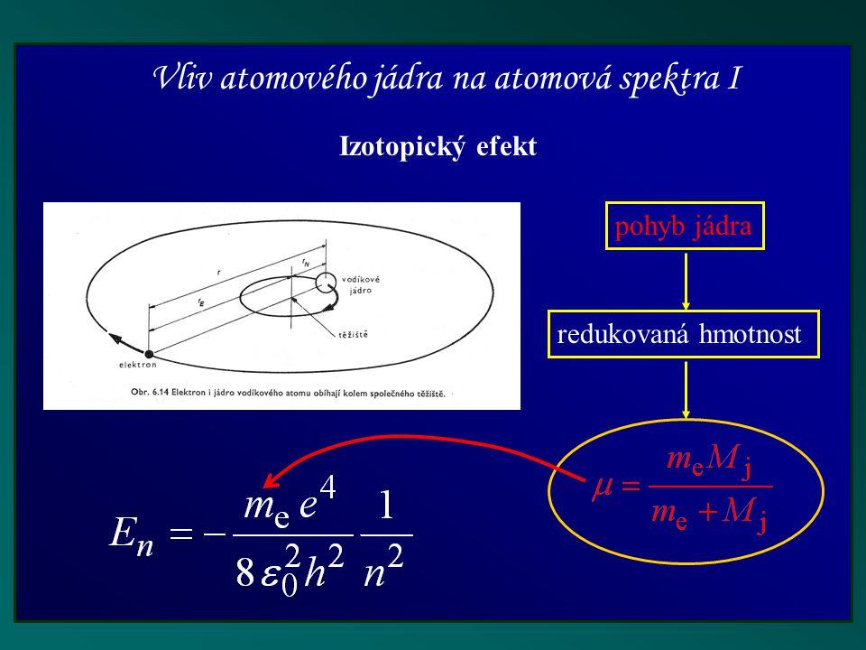 Vliv atomového jádra na atomová spektra I