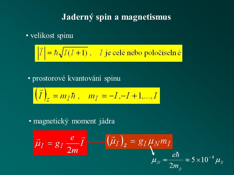 Jaderný spin a magnetismus