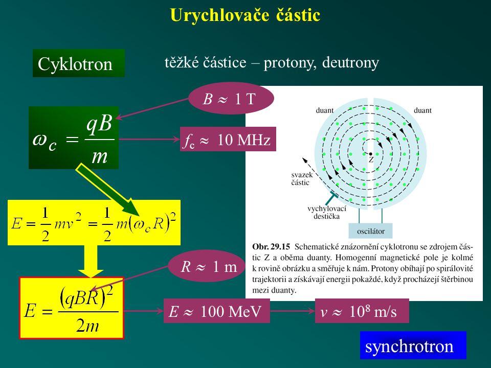 Urychlovače částic Cyklotron synchrotron
