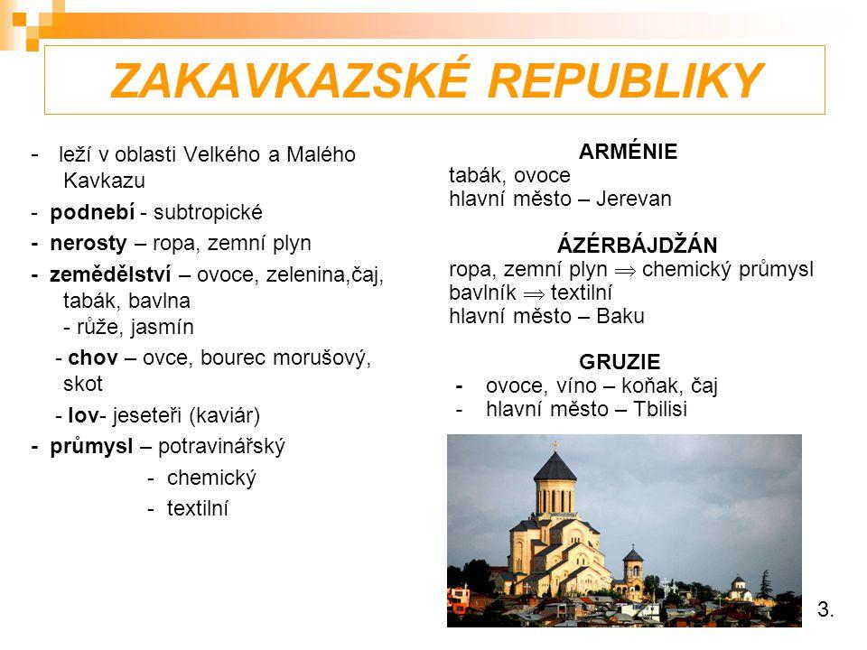 ZAKAVKAZSKÉ REPUBLIKY