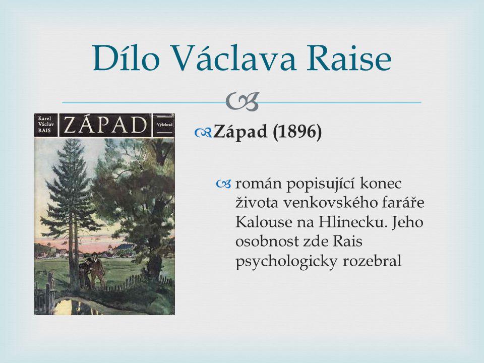 Dílo Václava Raise Západ (1896)