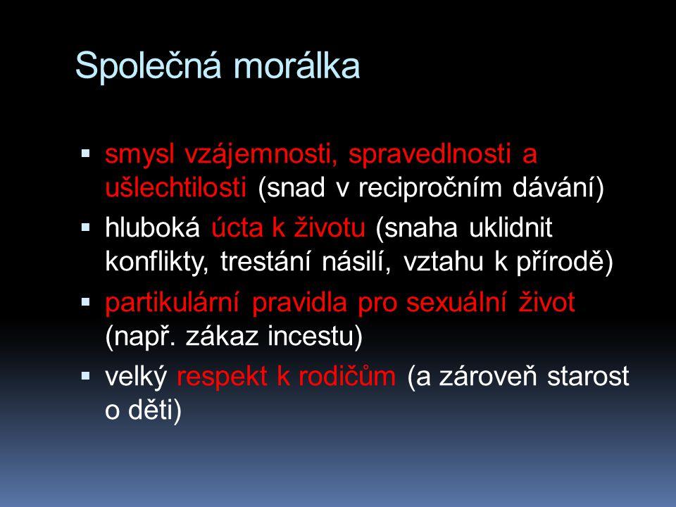 Společná morálka smysl vzájemnosti, spravedlnosti a ušlechtilosti (snad v recipročním dávání)