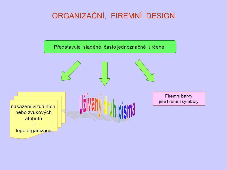 ORGANIZAČNÍ, FIREMNÍ DESIGN