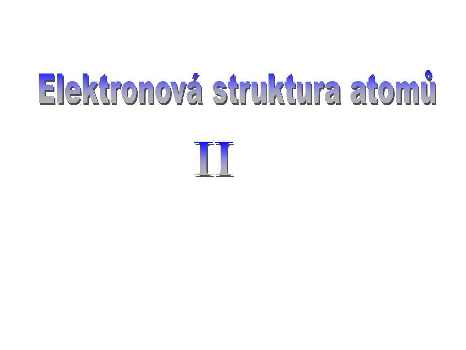 Elektronová struktura atomů