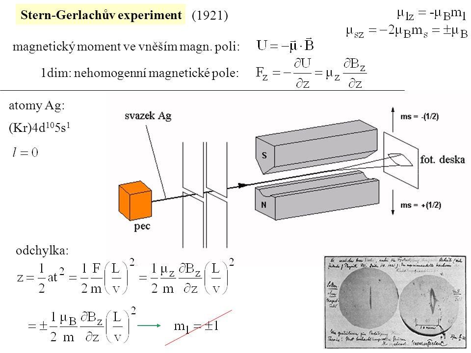 Stern-Gerlachův experiment
