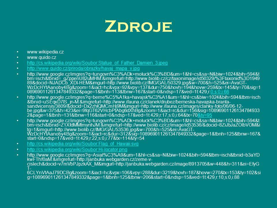 Zdroje www.wikipedia.cz www.quido.cz