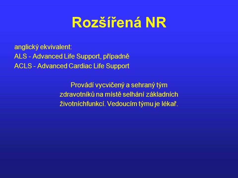 Rozšířená NR anglický ekvivalent: