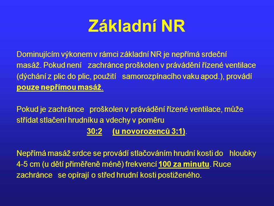 Základní NR Dominujícím výkonem v rámci základní NR je nepřímá srdeční