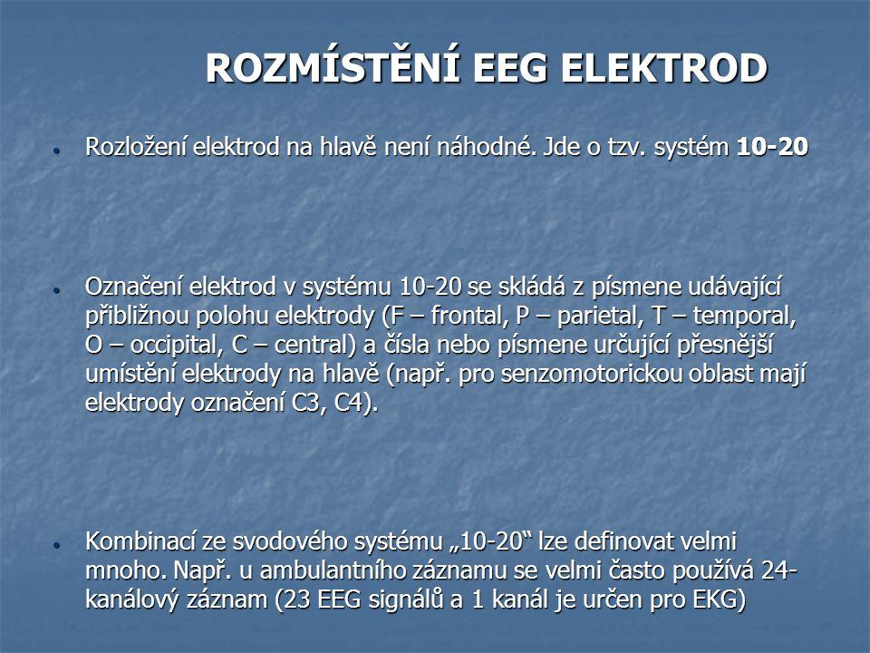 ROZMÍSTĚNÍ EEG ELEKTROD