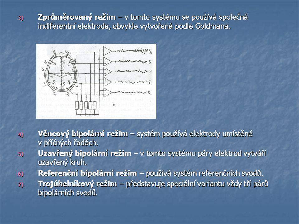 Zprůměrovaný režim – v tomto systému se používá společná indiferentní elektroda, obvykle vytvořená podle Goldmana.