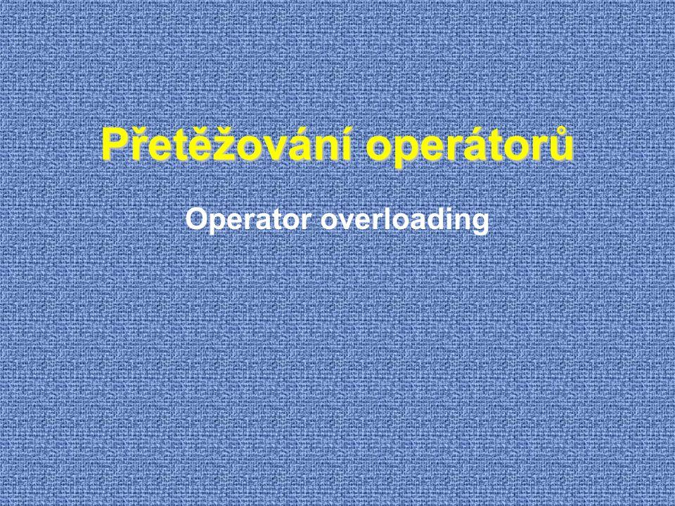 Přetěžování operátorů