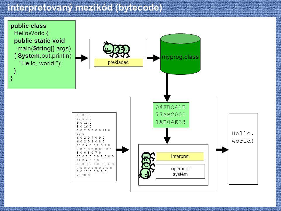interpretovaný mezikód (bytecode)