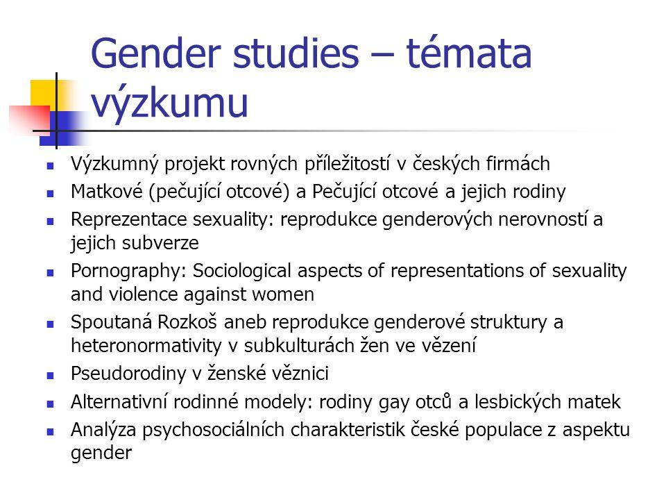 Gender studies – témata výzkumu