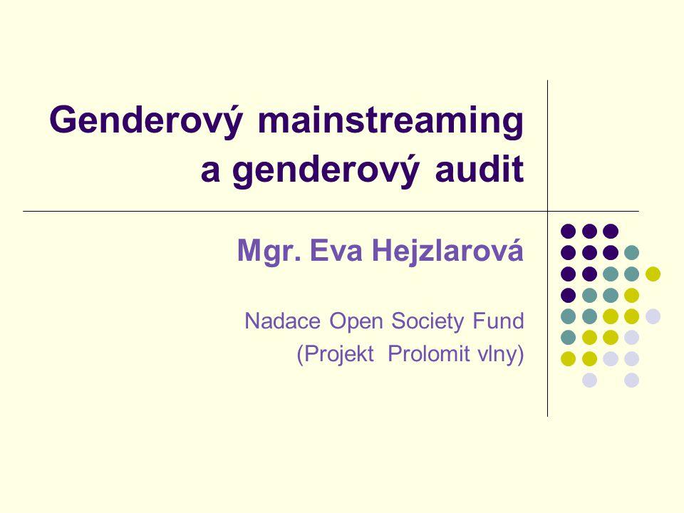 Genderový mainstreaming a genderový audit