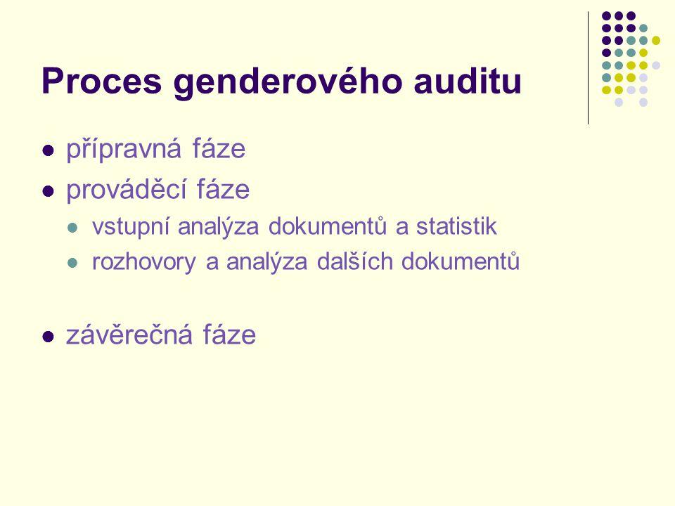 Proces genderového auditu