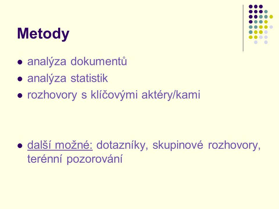 Metody analýza dokumentů analýza statistik