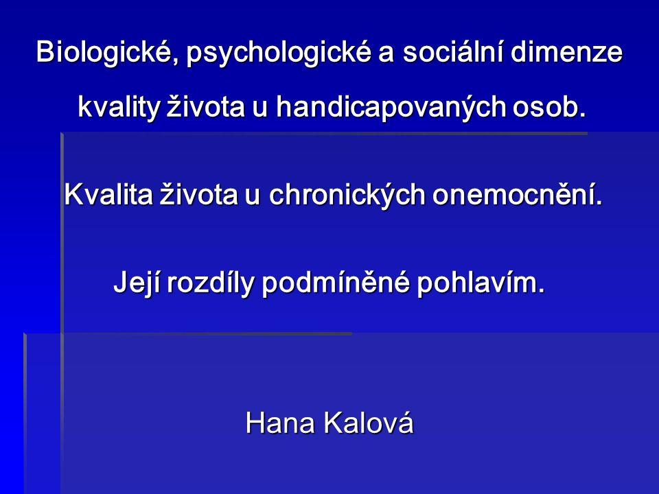 Biologické, psychologické a sociální dimenze