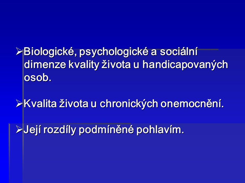 Biologické, psychologické a sociální