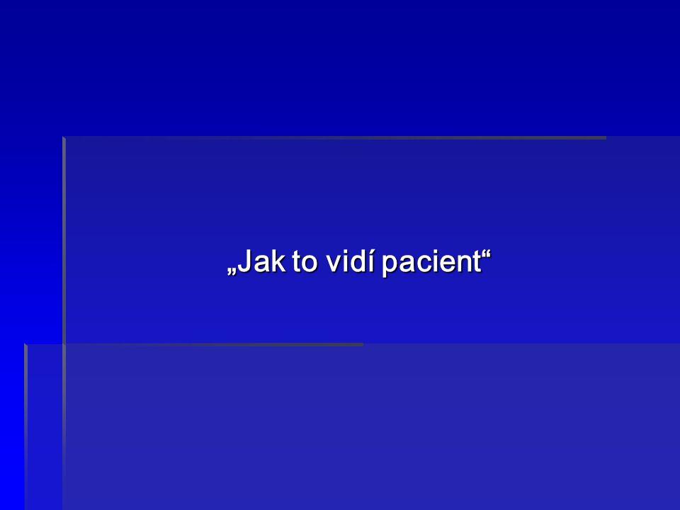 """""""Jak to vidí pacient"""