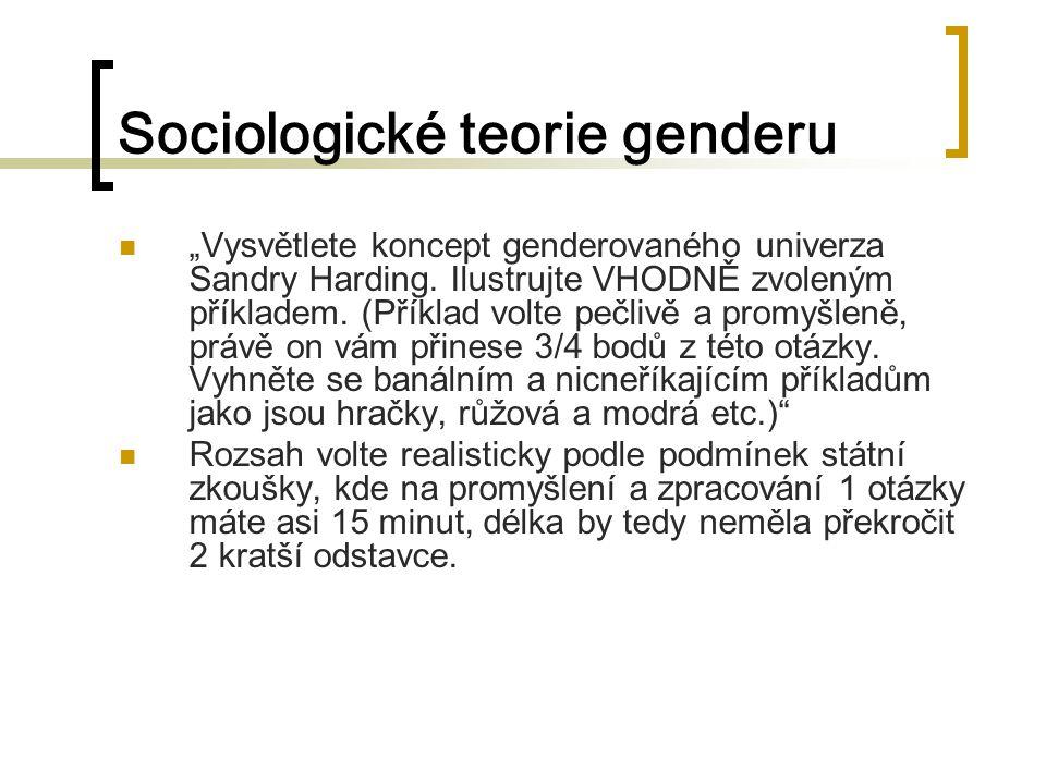 Sociologické teorie genderu