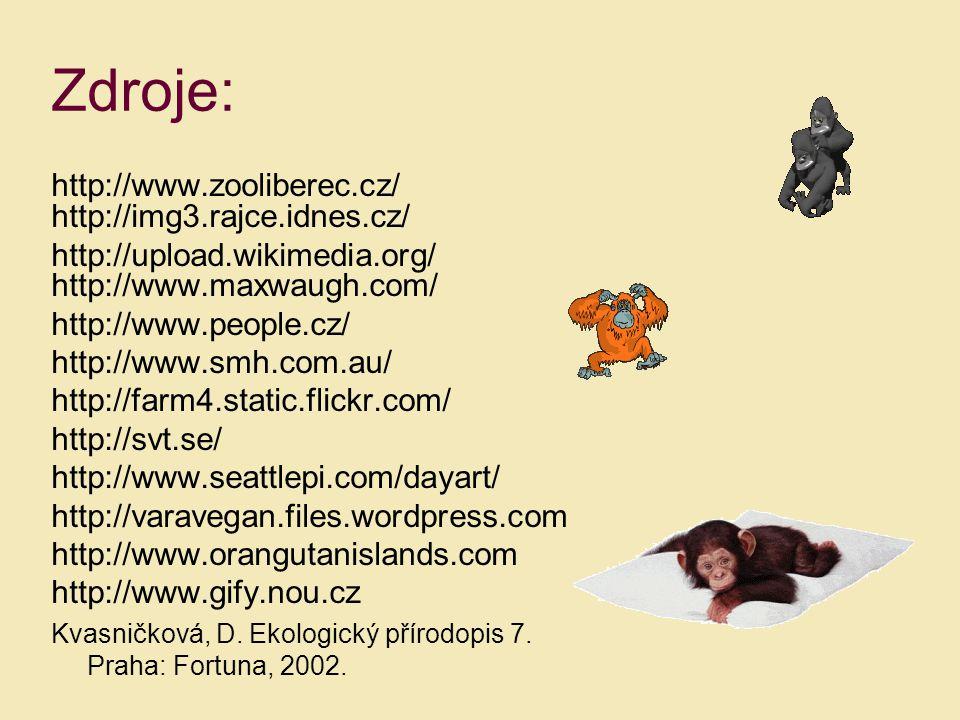 Zdroje: http://www.zooliberec.cz/ http://img3.rajce.idnes.cz/