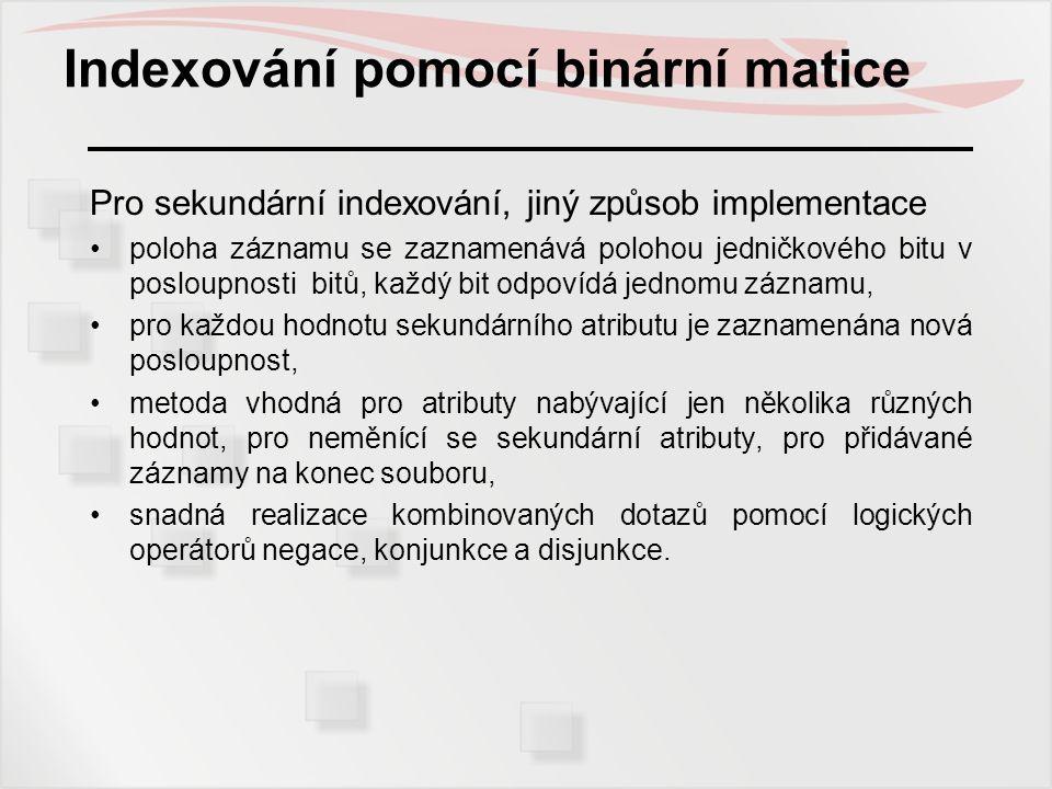 Indexování pomocí binární matice