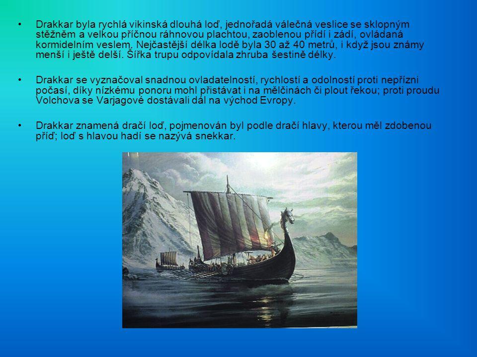 Drakkar byla rychlá vikinská dlouhá loď, jednořadá válečná veslice se sklopným stěžněm a velkou příčnou ráhnovou plachtou, zaoblenou přídí i zádí, ovládaná kormidelním veslem. Nejčastější délka lodě byla 30 až 40 metrů, i když jsou známy menší i ještě delší. Šířka trupu odpovídala zhruba šestině délky.