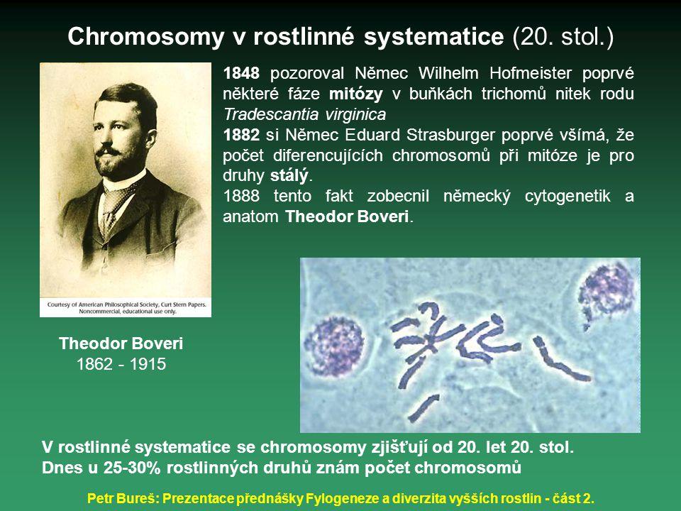 Chromosomy v rostlinné systematice (20. stol.)