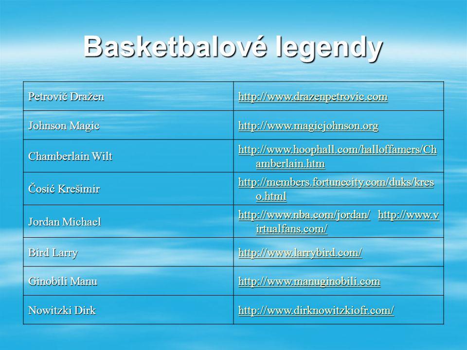 Basketbalové legendy Petrovič Dražen http://www.drazenpetrovic.com