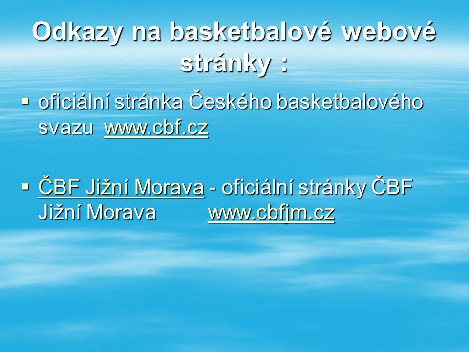 Odkazy na basketbalové webové stránky :