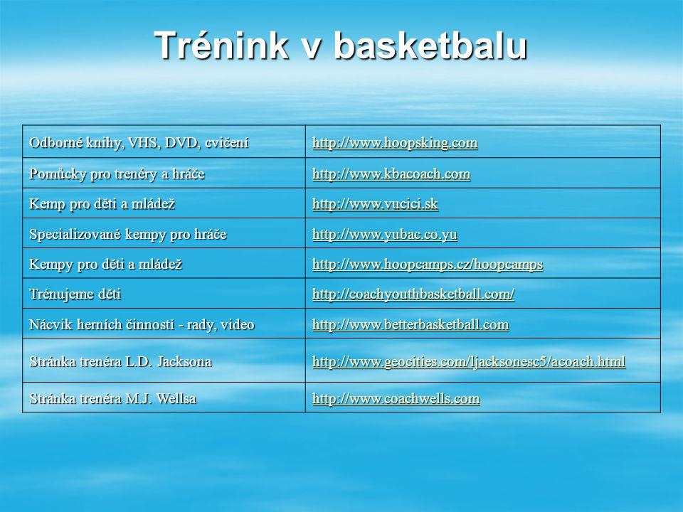 Trénink v basketbalu Odborné knihy, VHS, DVD, cvičení