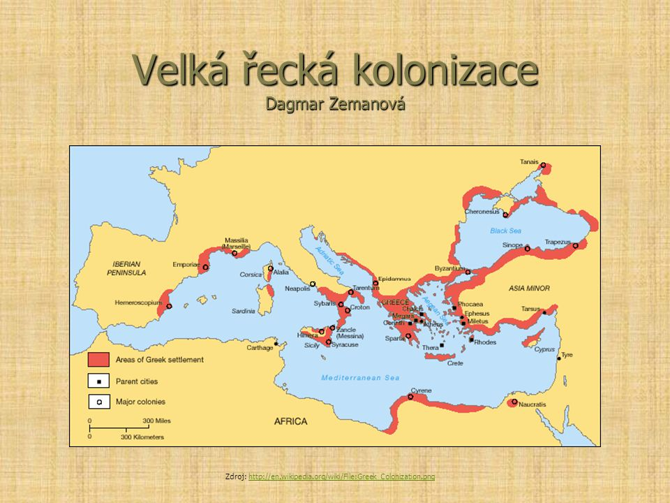 Velká řecká kolonizace Dagmar Zemanová