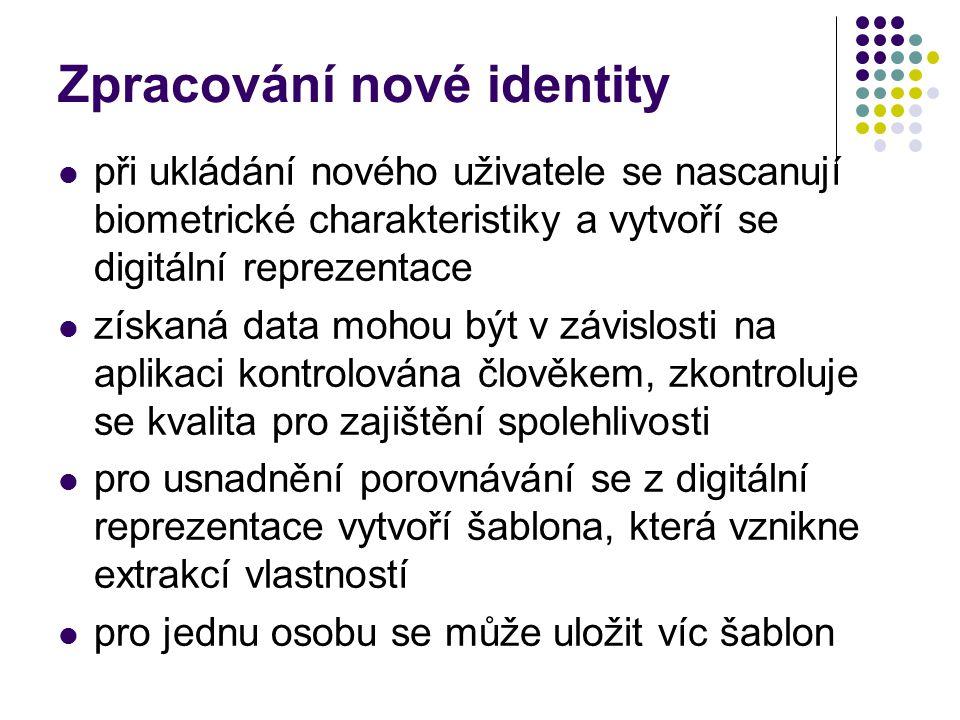 Zpracování nové identity