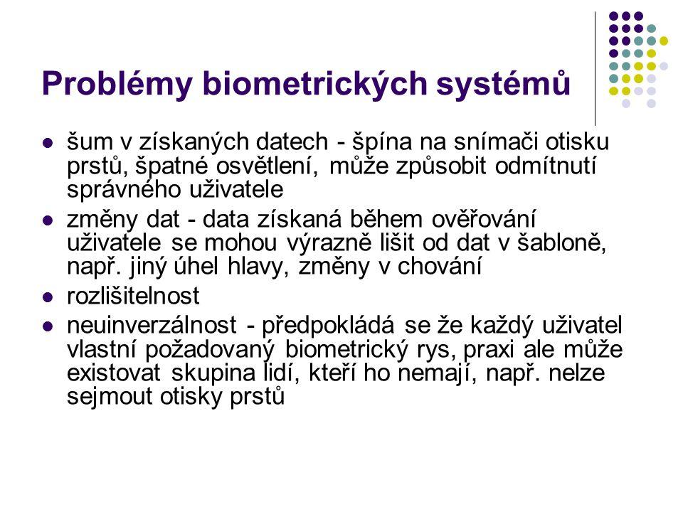 Problémy biometrických systémů