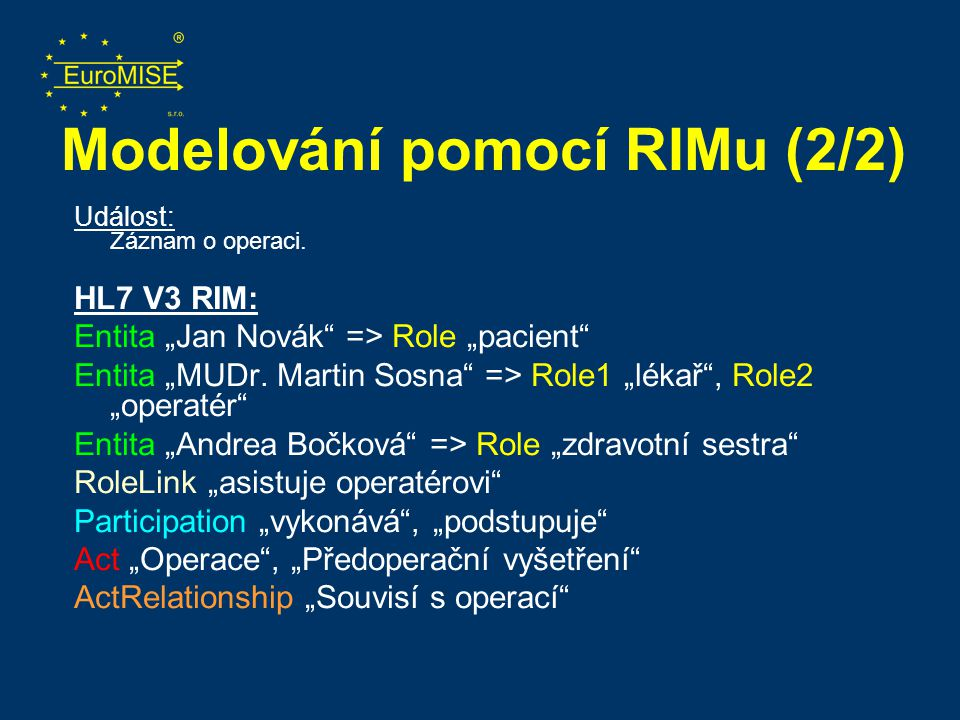 Modelování pomocí RIMu (2/2)