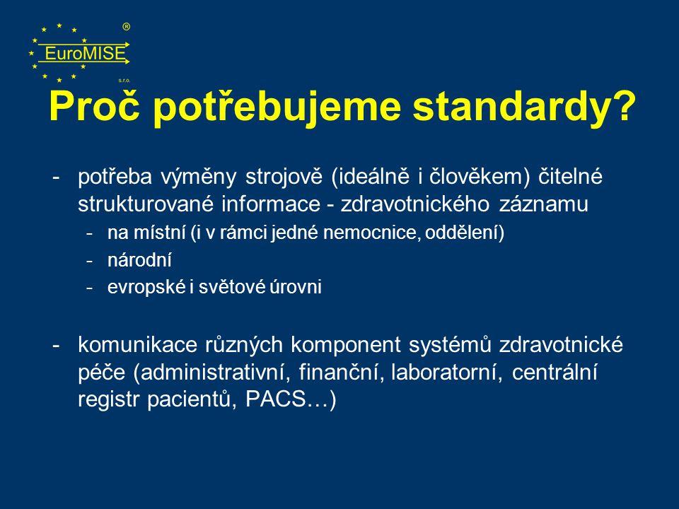 Proč potřebujeme standardy