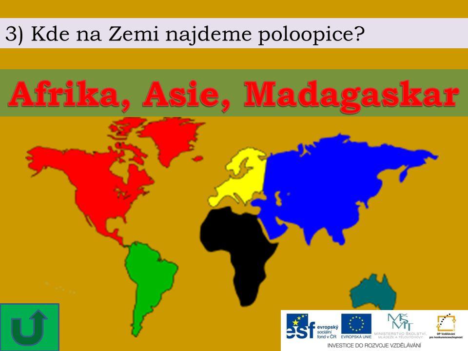 Afrika, Asie, Madagaskar