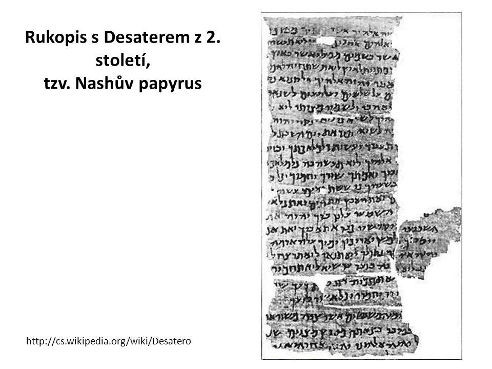 Rukopis s Desaterem z 2. století, tzv. Nashův papyrus