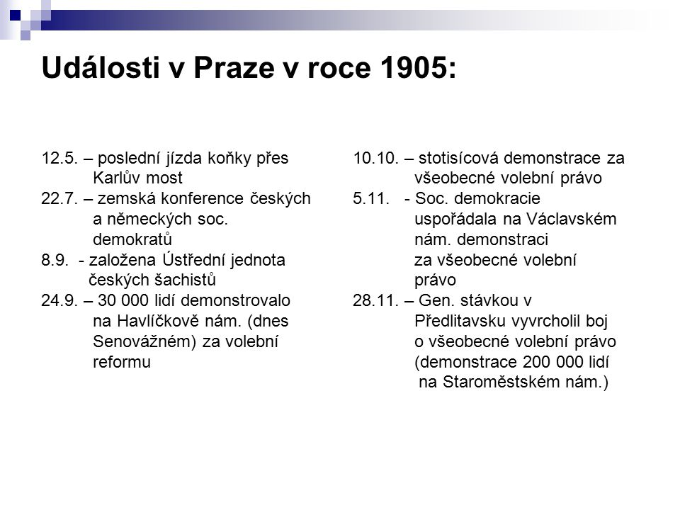 Události v Praze v roce 1905: