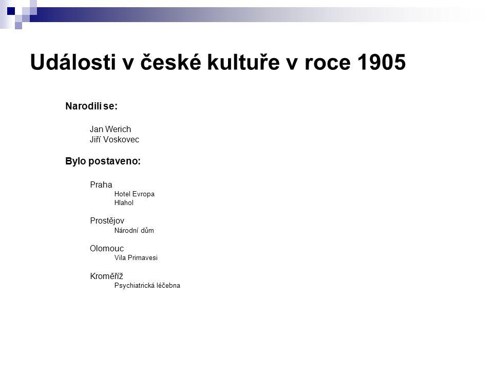 Události v české kultuře v roce 1905